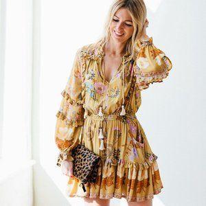 New Boho Summer Floral Long Sleeve Dress